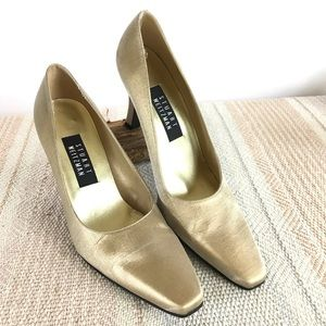 Stuart Weitzman Metallic Gold Pumps SZ 8.5
